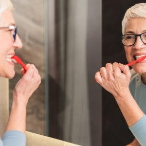 woman relearning activities of daily living after stroke