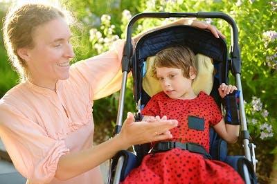 child with spastic quadriplegia