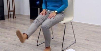 position finale pour les exercices d'AVC pour les jambes