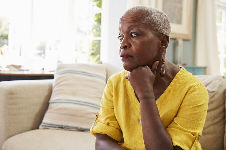 woman wondering how to treat incontinence after stroke