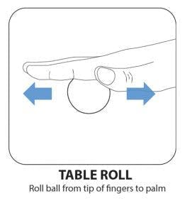 table roll hand exercise