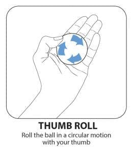 thumb roll hand exercise ball therapy exercise