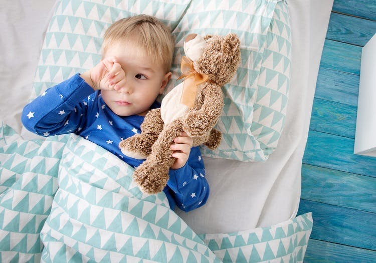 child with cerebral palsy experiencing sleep problems due to spasticity