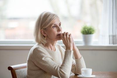 stroke survivor gazing off into distance