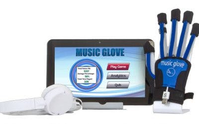 musicglove with tablet