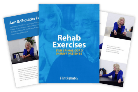 exercise ebook cover for spinal cord injury with example pages